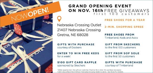 nebraska crossing grand opening at rack