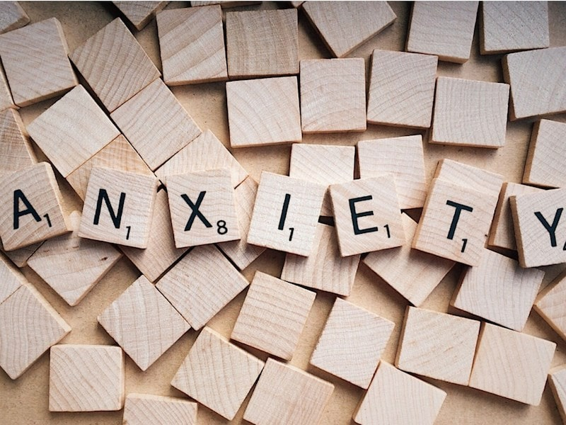 Anxiety scrabble tiles