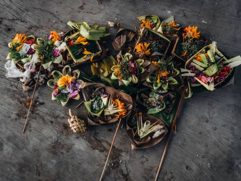 Canang Sari Hindu Offering Bali