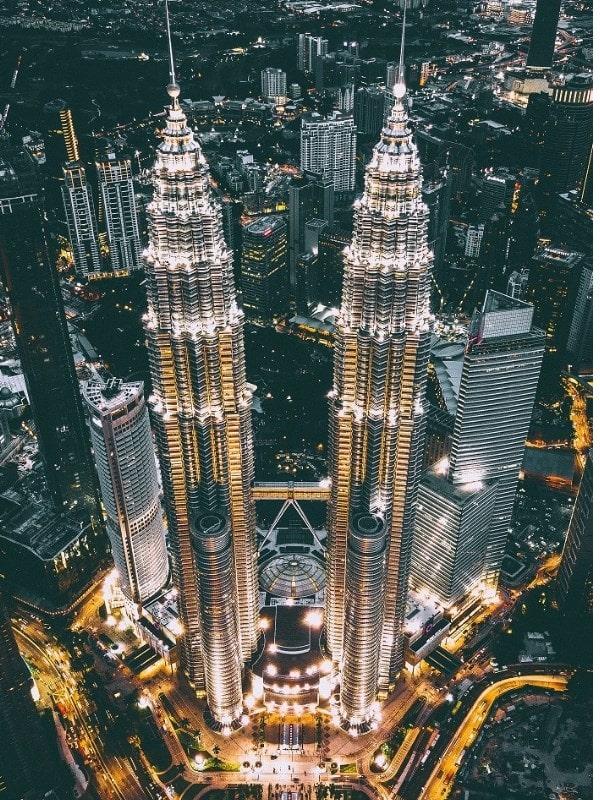Petronas Twin Towers Night Kuala Lumpur