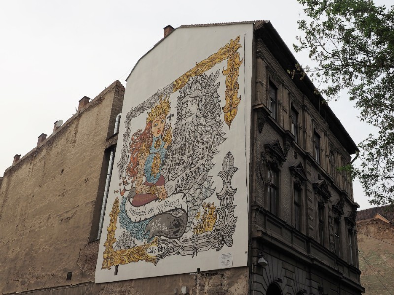 Everyone has a town Street art mural Budapest