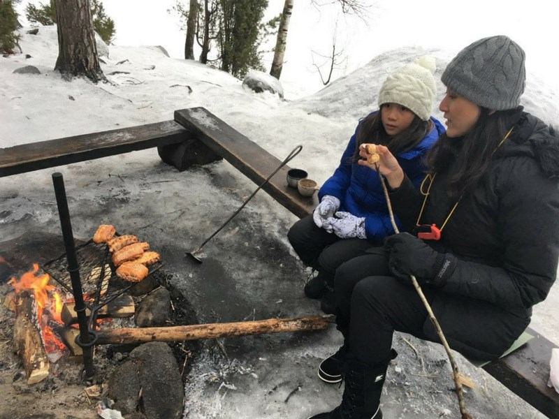 Nuuksio National Park In Winter Camp Fire