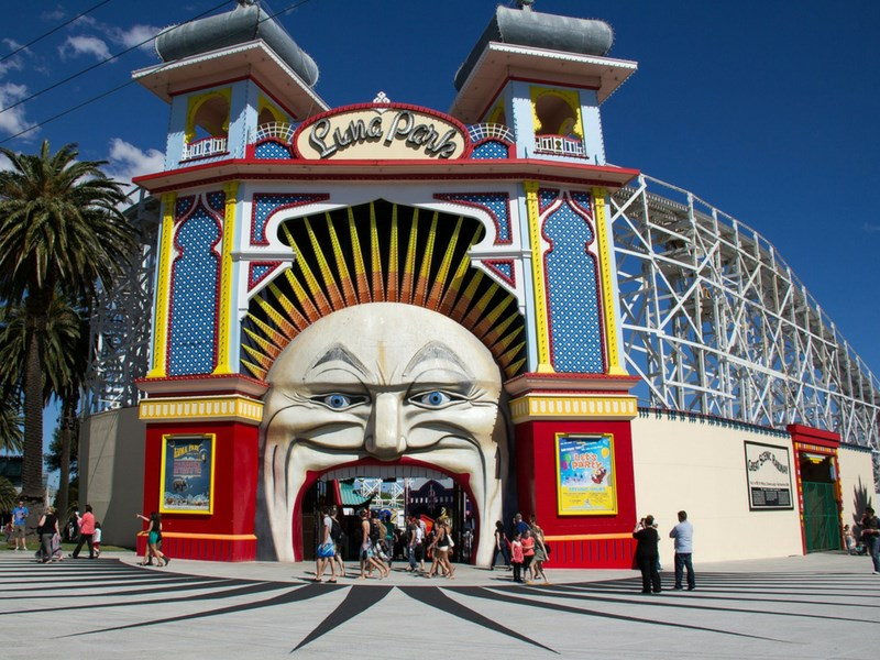 Things to do in Melbourne with kids - Luna Park