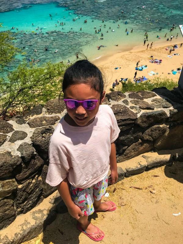 Hanauma Bay Oahu Girl Snorkeling