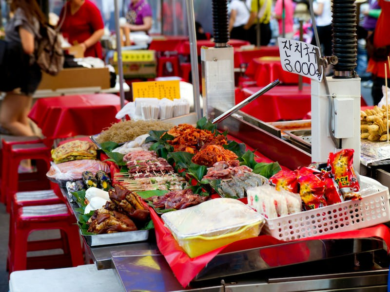 Asian street food stall