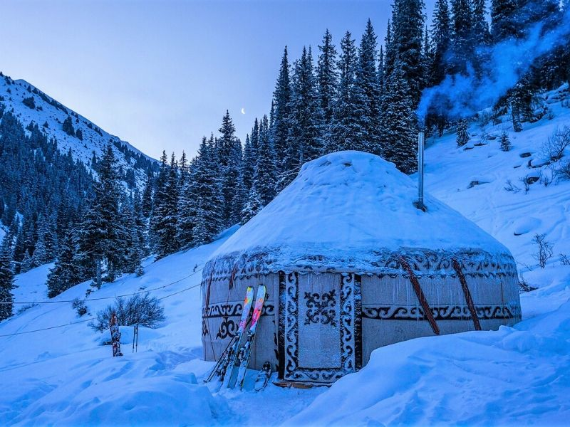 Staying in a yurt in Kyrgyzstan