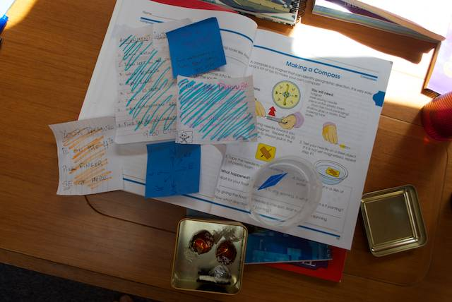 there was also an interactive science activity in the form of a treasure hunt…