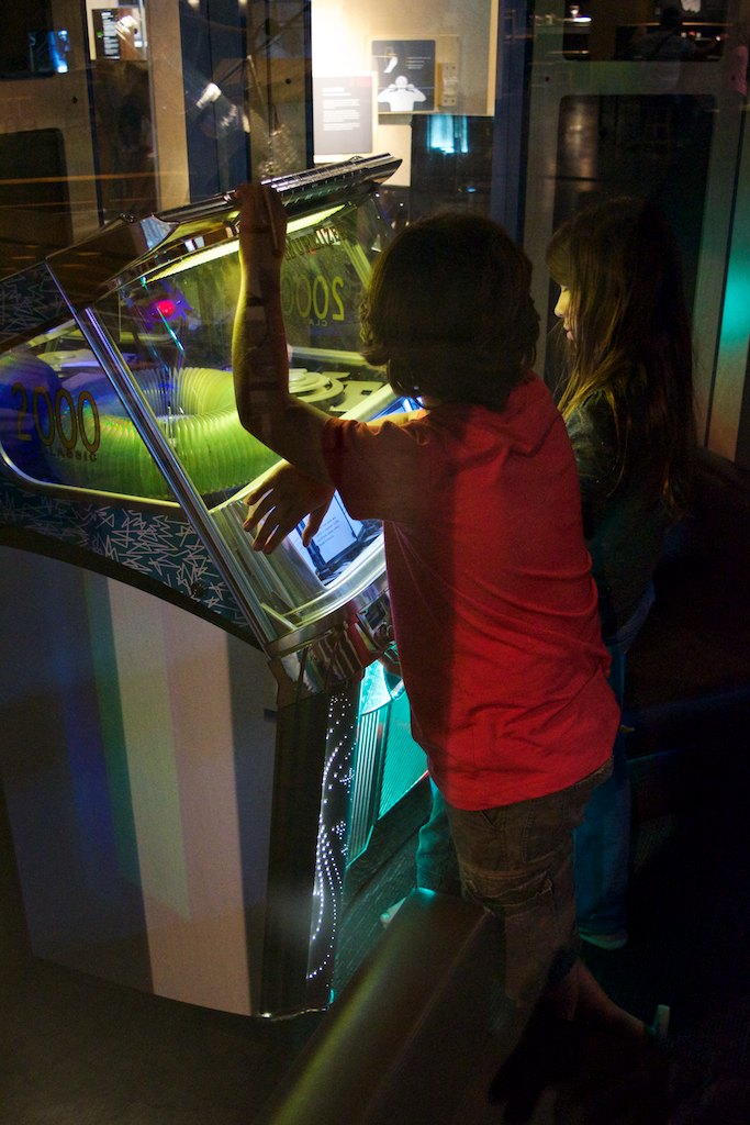 The kids had a great time exploring the attractions there - on the Listening session, this jukebox that plays exotic sounds from around the world was a top hit for them
