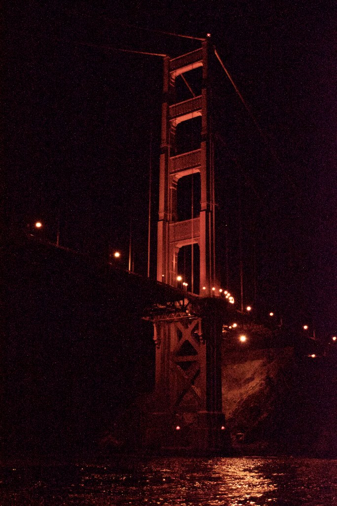 And once again, we sailed under the Golden Gate bridge. This time at night. Beautiful view.