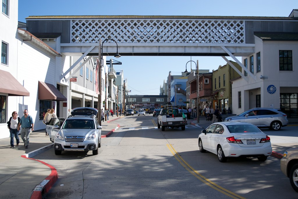 The Aquarium is located at the end of charming Cannery Row