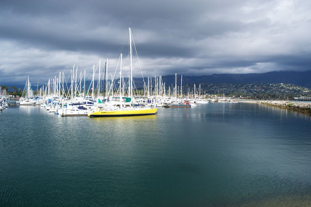 It's bye-bye to Santa Barbara and its charming - and expensive - marina