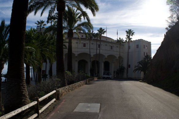 """Then, one evening Raquel, Adriana and I went to the Catalina Casino building to watch a session of """"Into the Woods"""" in their movie theater"""