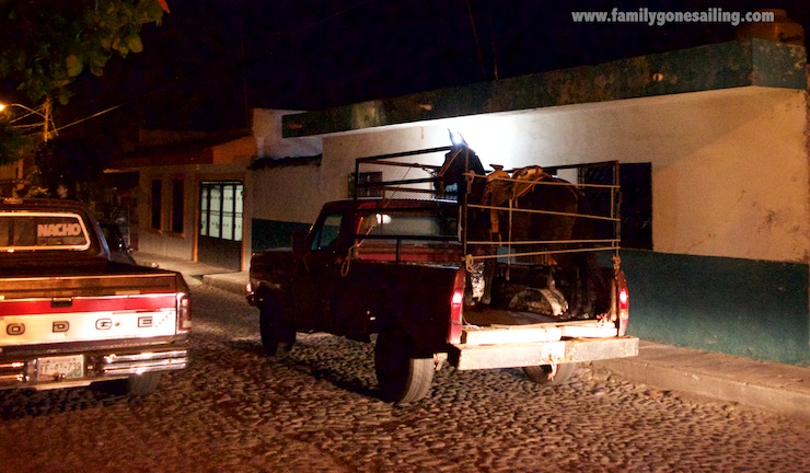 Arriving to Casa Alvarada, this scene reminded us that Comala is a mostly rural town.