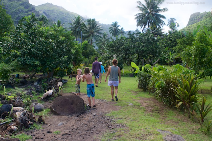 Entering the Marquesan farm