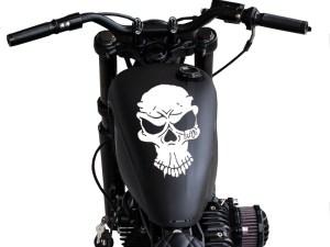 Retro Tank skull
