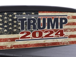 Trump 2024 color perforated rear window decal