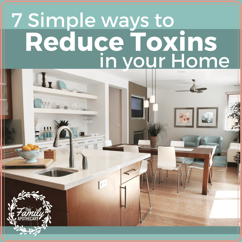 Want to know how you can best keep your family safe and healthy? Detoxifying your home is a really great place to start. Here are 7 Ways to Reduce Toxins in your Home to keep your family well and happy. Learn about the best non toxic cleaning products on the market and where to buy. #nontoxiccleaning #organiccleaningproducts #homehaven #diydetox #beautycounter ~ www.familyherbalco.com