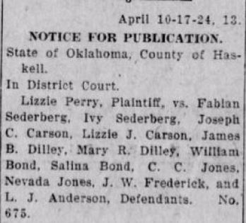 Beginner Genealogy Research Mistakes, newspaper clipping regarding Fabian Sederberg