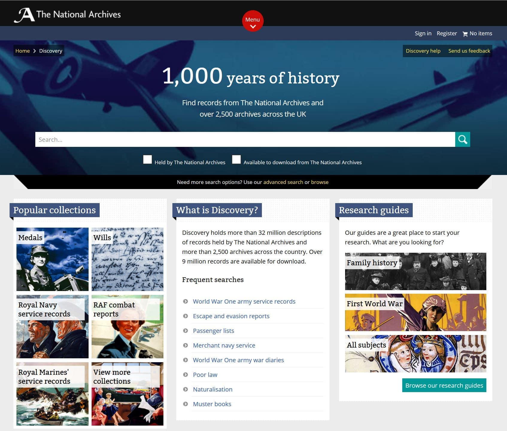 British, Irish, Scottish, Welsh Genealogy Research Guide, The National Archives online record collections