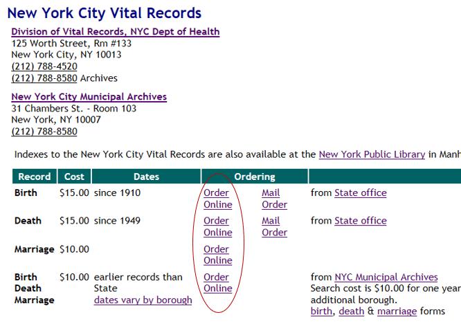 New York Vital Records on USAVital.com
