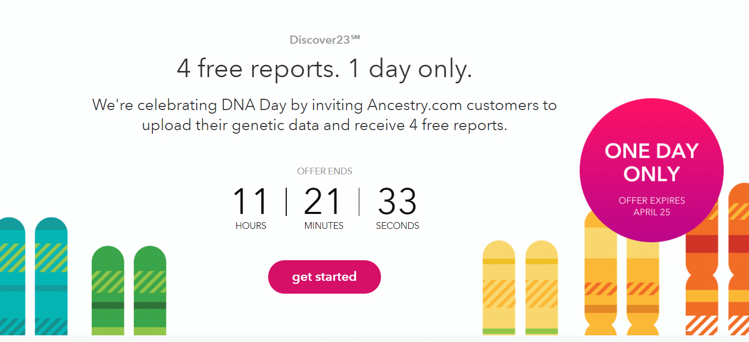 23andMe Free Upload Offer