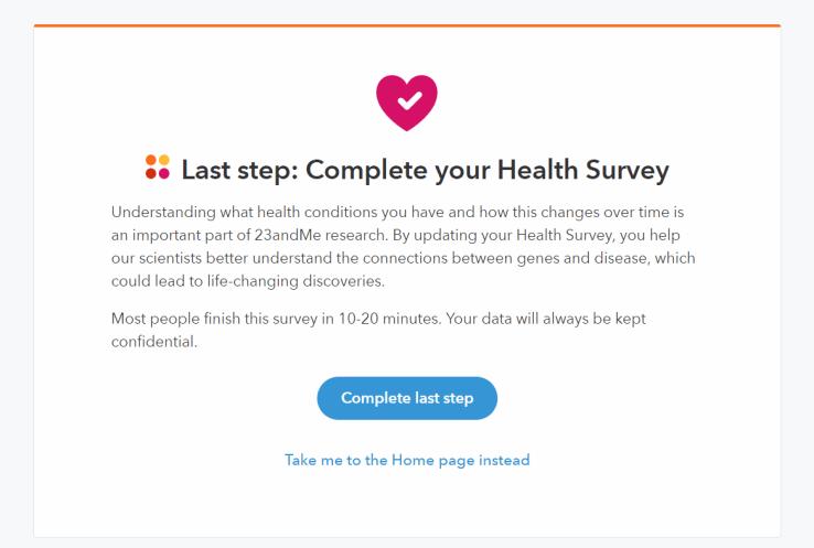 23andMe Health Survey