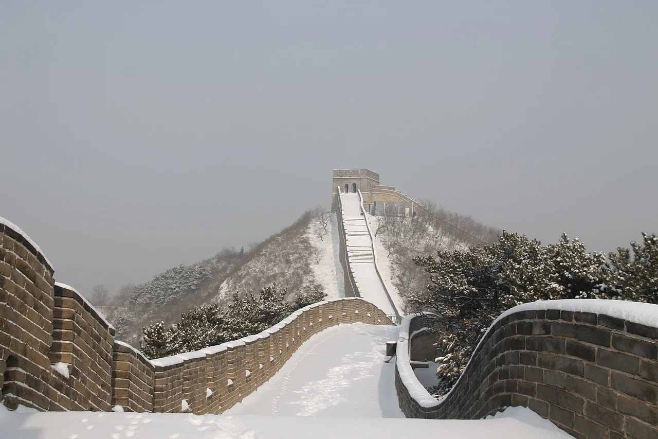 Travel to Discover Roots in Asia, Great Wall of China Covered in Snow