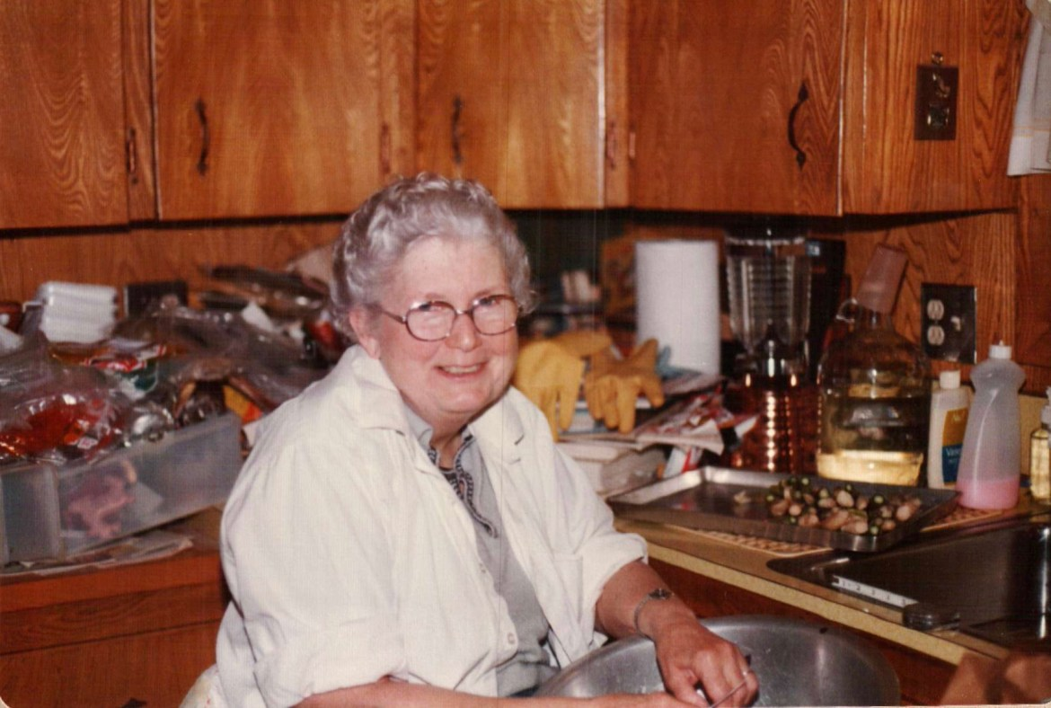 My grandma Pauline Gall in her kitchen.