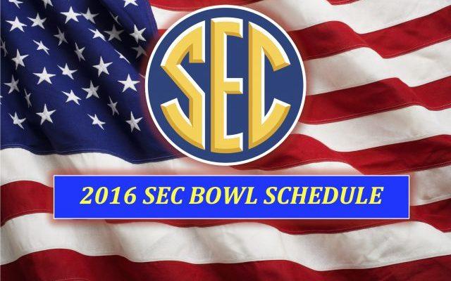 Sec Bowl Game Schedule Lineup Teams Football 2016