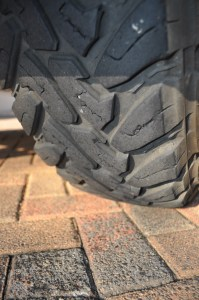 Toyo have a little tread block wear and tear