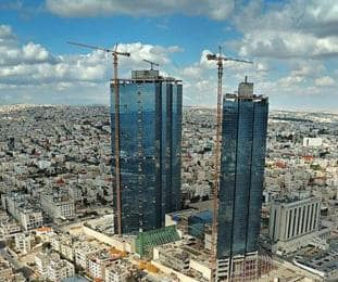 Jordan towers under construction
