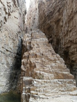 end of the Siq (flight of steps)