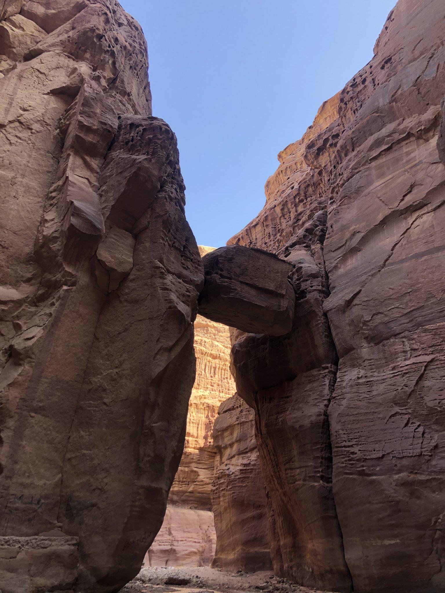 wadi numeira hanging rock