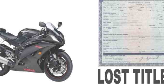 how to get a lost title for a motorcycle