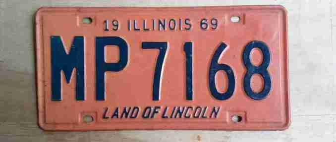 Old Illinois motorcycle license plate