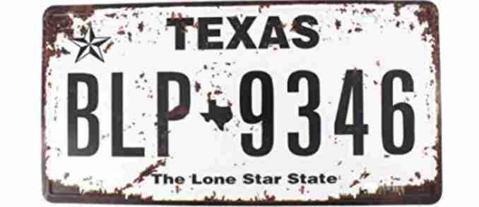 Moving out of Texas license plates
