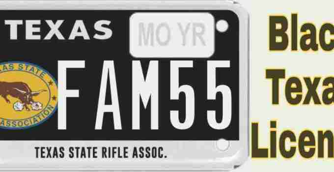 how to get black license plate Texas