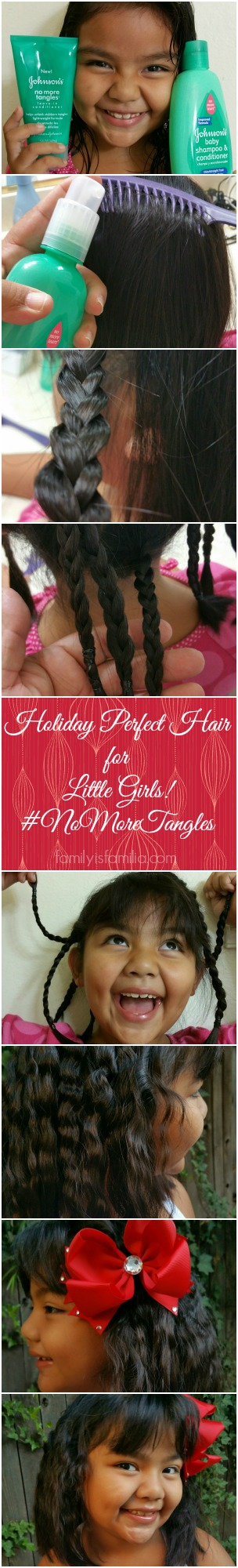Holiday Perfect Hair for Little Girls! #NoMoreTangles