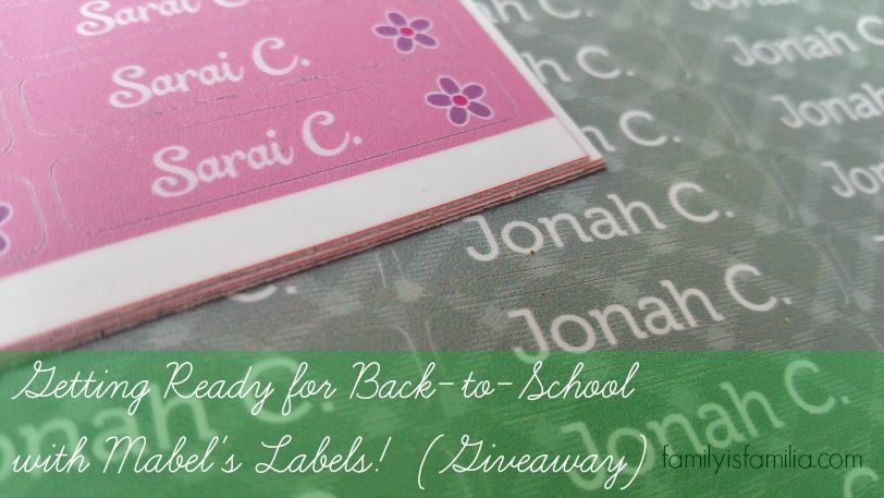 Getting Ready for Back-to-School with Mabel's Labels! (Giveaway)