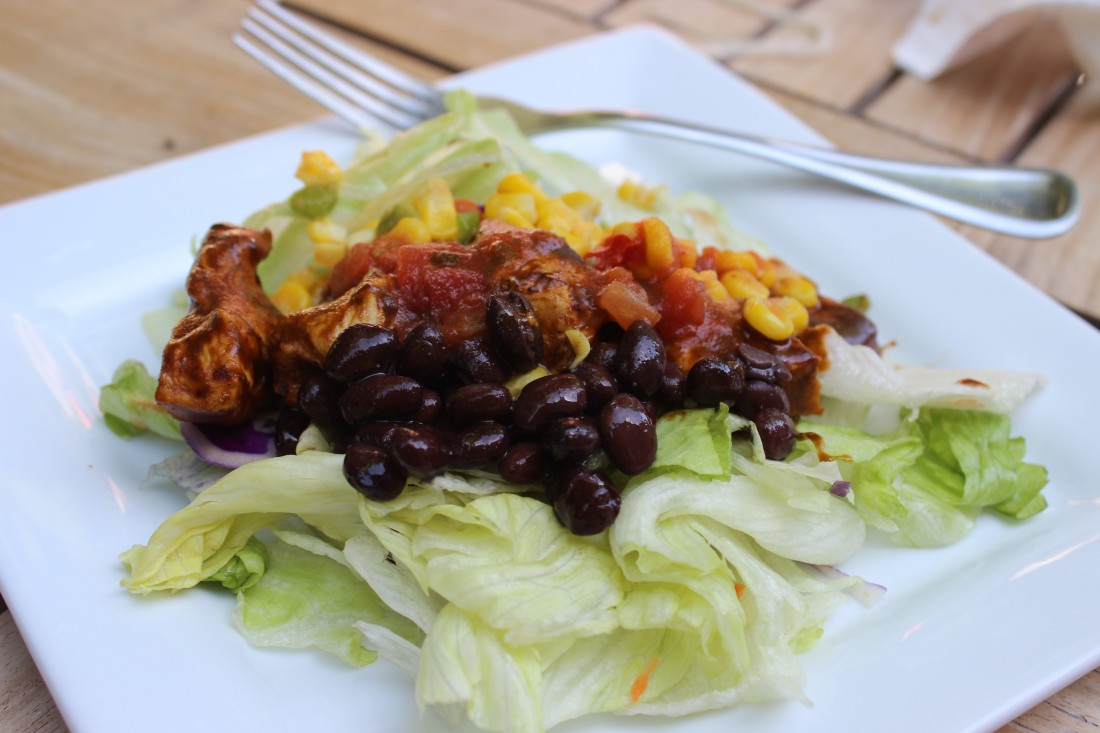 Easy Chicken Mole Salad made with Foster Farms Chicken