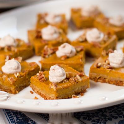 Pumpkin squares for the holidays