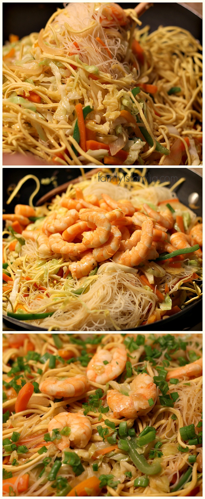 Easy Filipino Shrimp Pancit for Lent