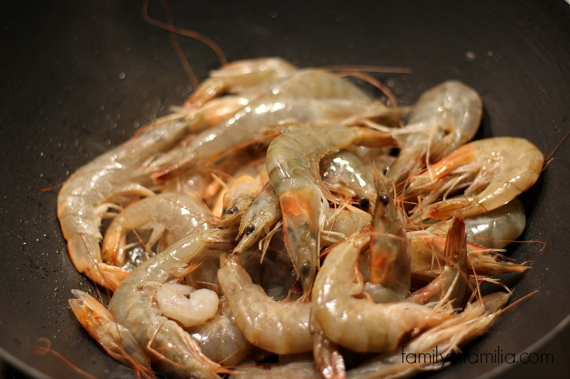 Easy Filipino Shrimp Pancit for Lent