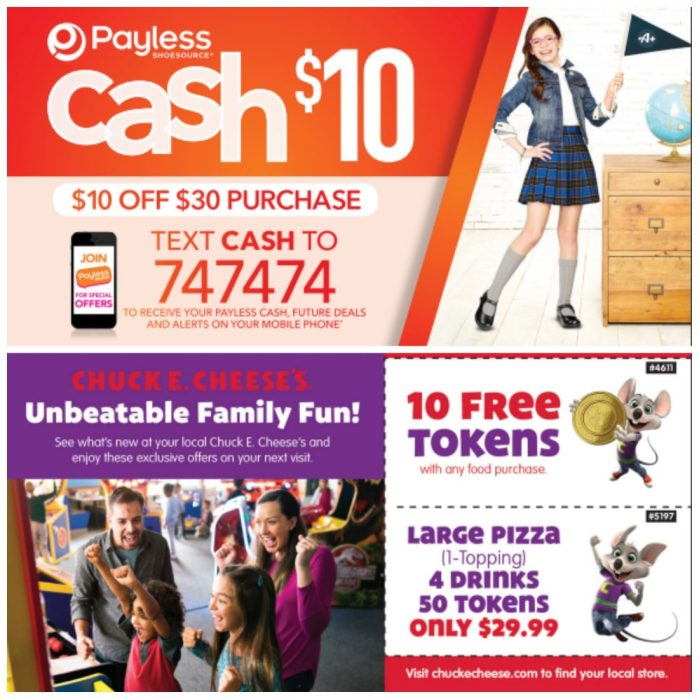 Back to School Savings with Chuck E. Cheese's and Payless!