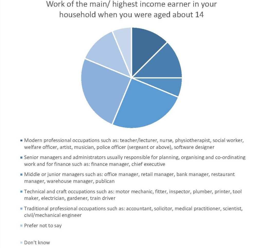 Work of highest income earner chart