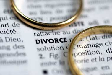 no-fault divorce image - two rings