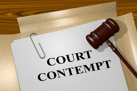 Contempt of court in family law