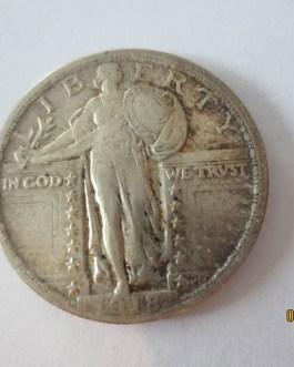 Rare key date silver standing liberty quarter 1918 AU condition