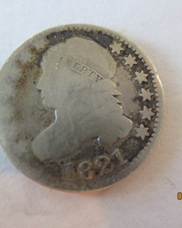 Rare key date Good Condition 1821 Large Date Variety Capped Bust Dime
