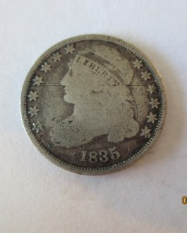 Rare key date Good Condition 1835 Capped Bust Dime Nice